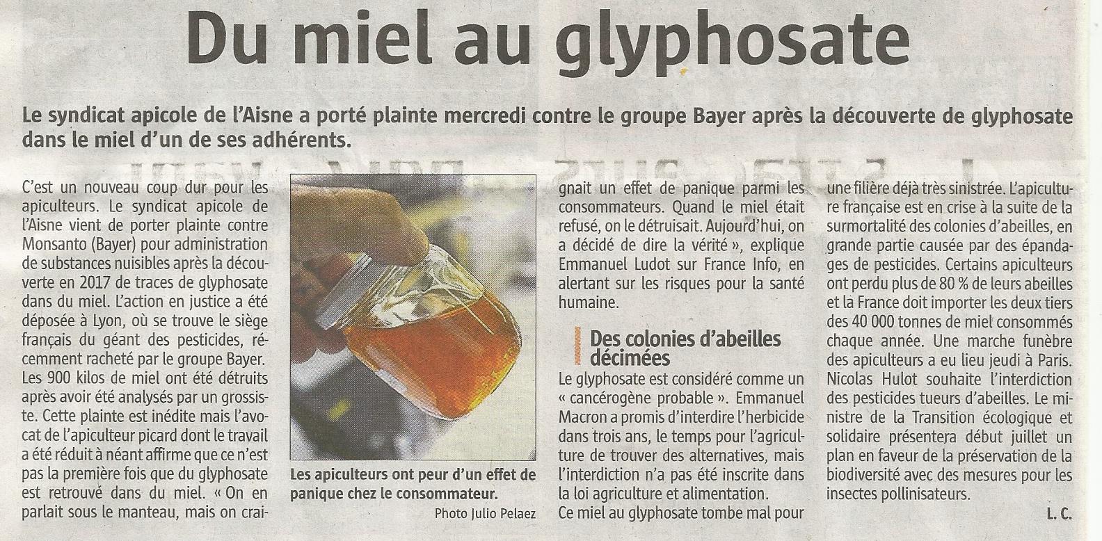 Miel au glyphosate Miel_j10