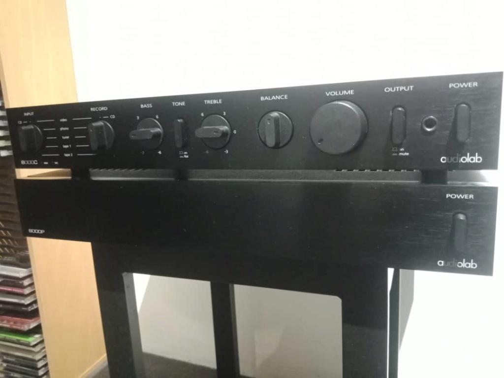 Audiolab 8000c + 8000p pre power  Img-2084