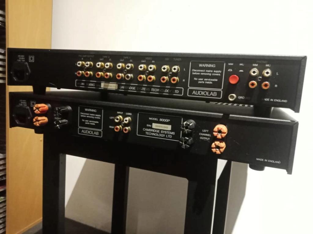Audiolab 8000c + 8000p pre power  Img-2085