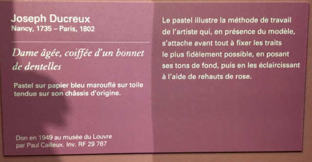 Exposition Pastels des XVII et XVIIIe siècles Louvre 2018 Captur37