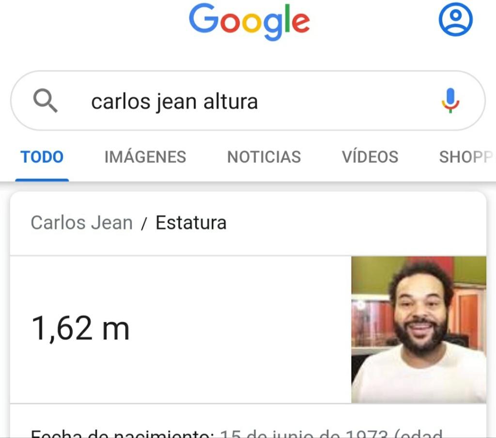 ¿Cuánto mide Carlos Jean? - Altura Img_2661