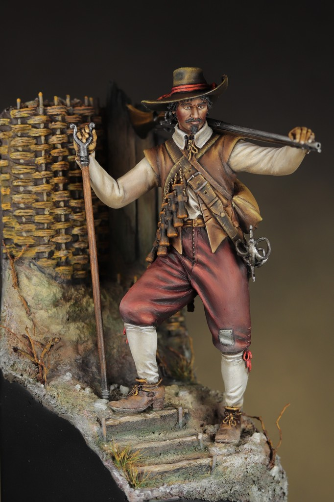 Arquebusier guerre de trente ans - figurine Avanpost 75 mm Img_1610