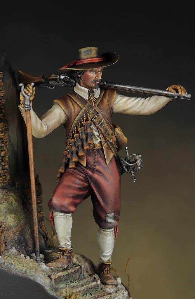 Arquebusier guerre de trente ans - figurine Avanpost 75 mm Img_1611