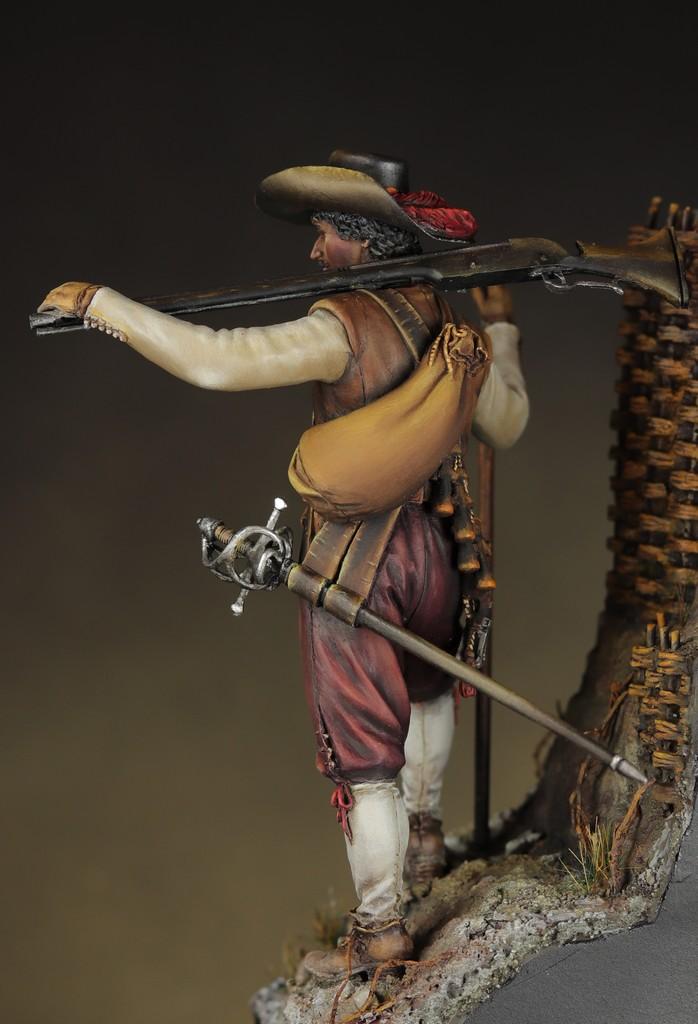 Arquebusier guerre de trente ans - figurine Avanpost 75 mm Img_1612