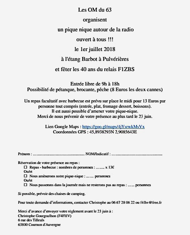 Les OM du 63 organisent un pique-nique autour de la radio (Pulvérières (dpt.63) (01/07/2018) 34963310