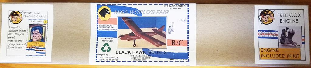 For Sale-NIB Blackhawk Miss Worlds Fair R/C Kit with Engine Ma110