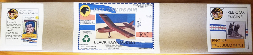 For Sale- NIB Blackhawk Miss Worlds Fair R/C Kit with Engine Ma111