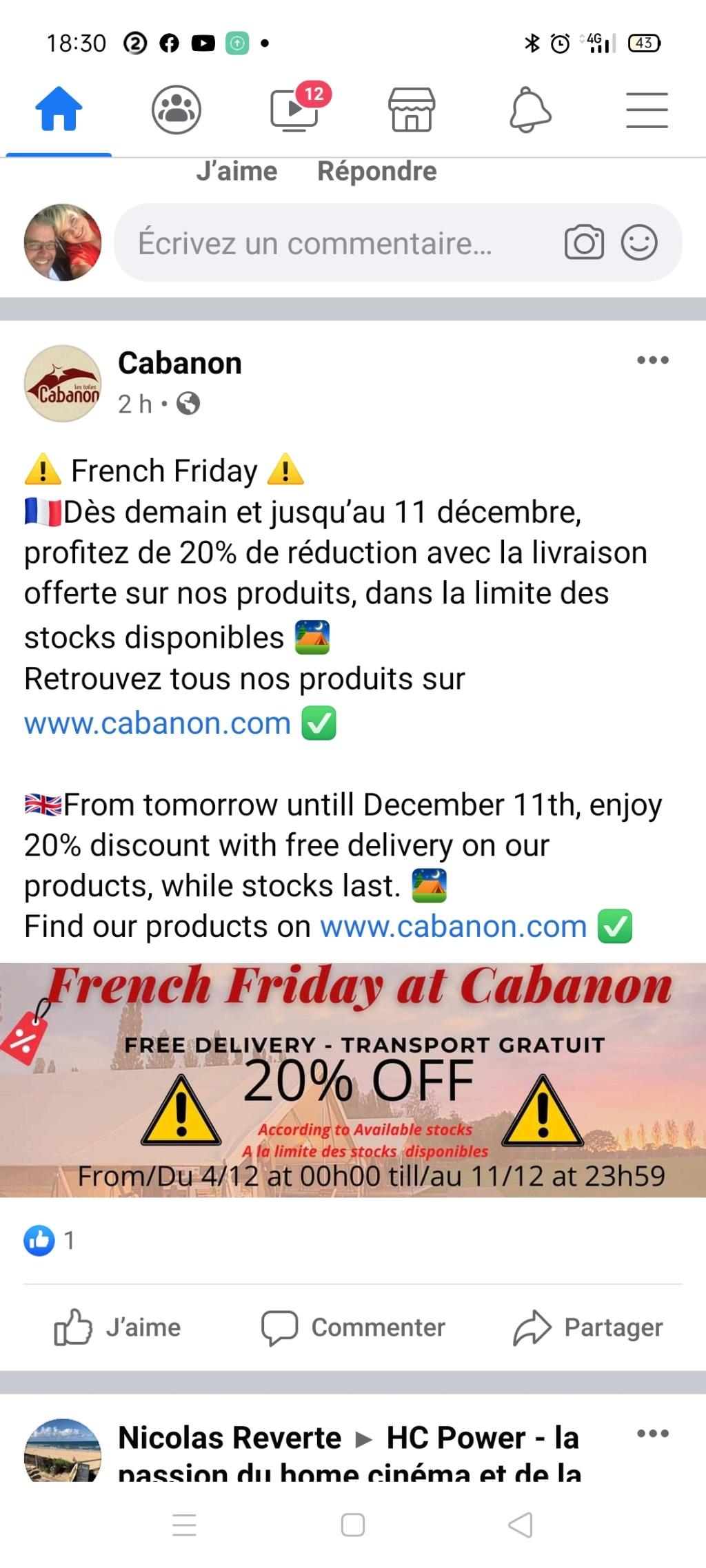 cabanon - Promo Cabanon -20% Screen12