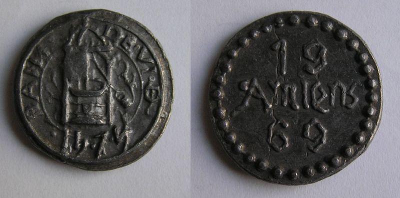 Médaille commemorative Amiens 1474 - 1969 Amiens11