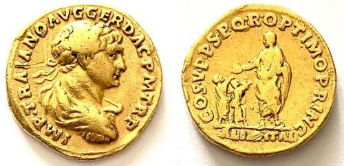 Auréus de Trajan de très faible poids : Authentique ou copie ?  Aurzou10