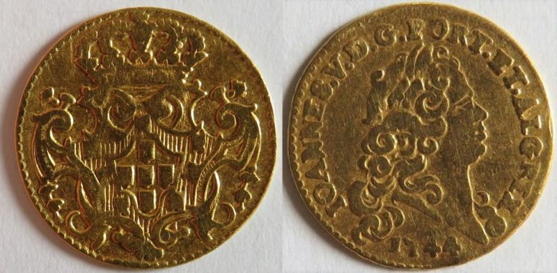 1/2 escudo Joao V 1744 Portugal : Poids faible ...  Joao_810