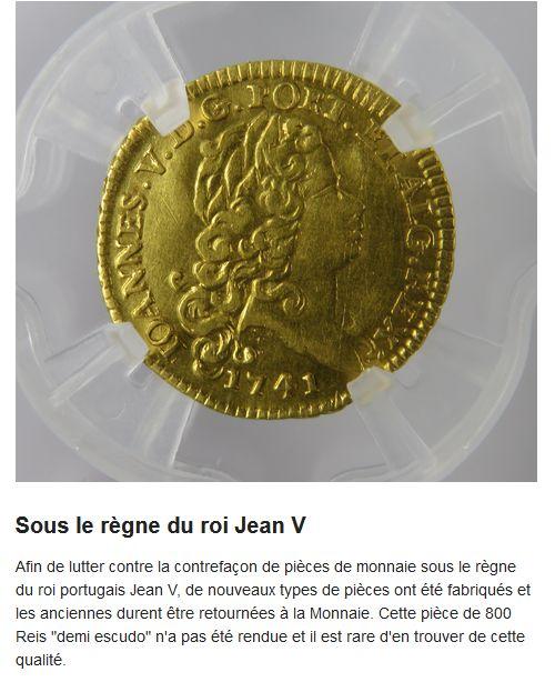 1/2 escudo Joao V 1744 Portugal : Poids faible ...  Joao_811