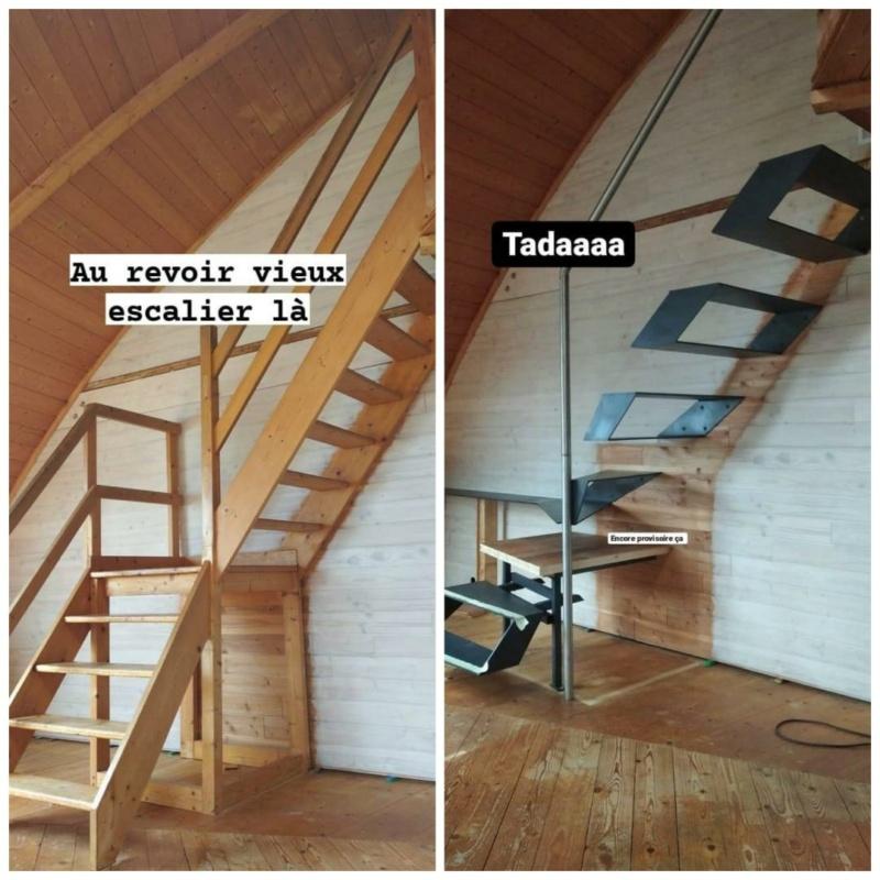 Métal et bois : escalier et meuble ! Avant-10