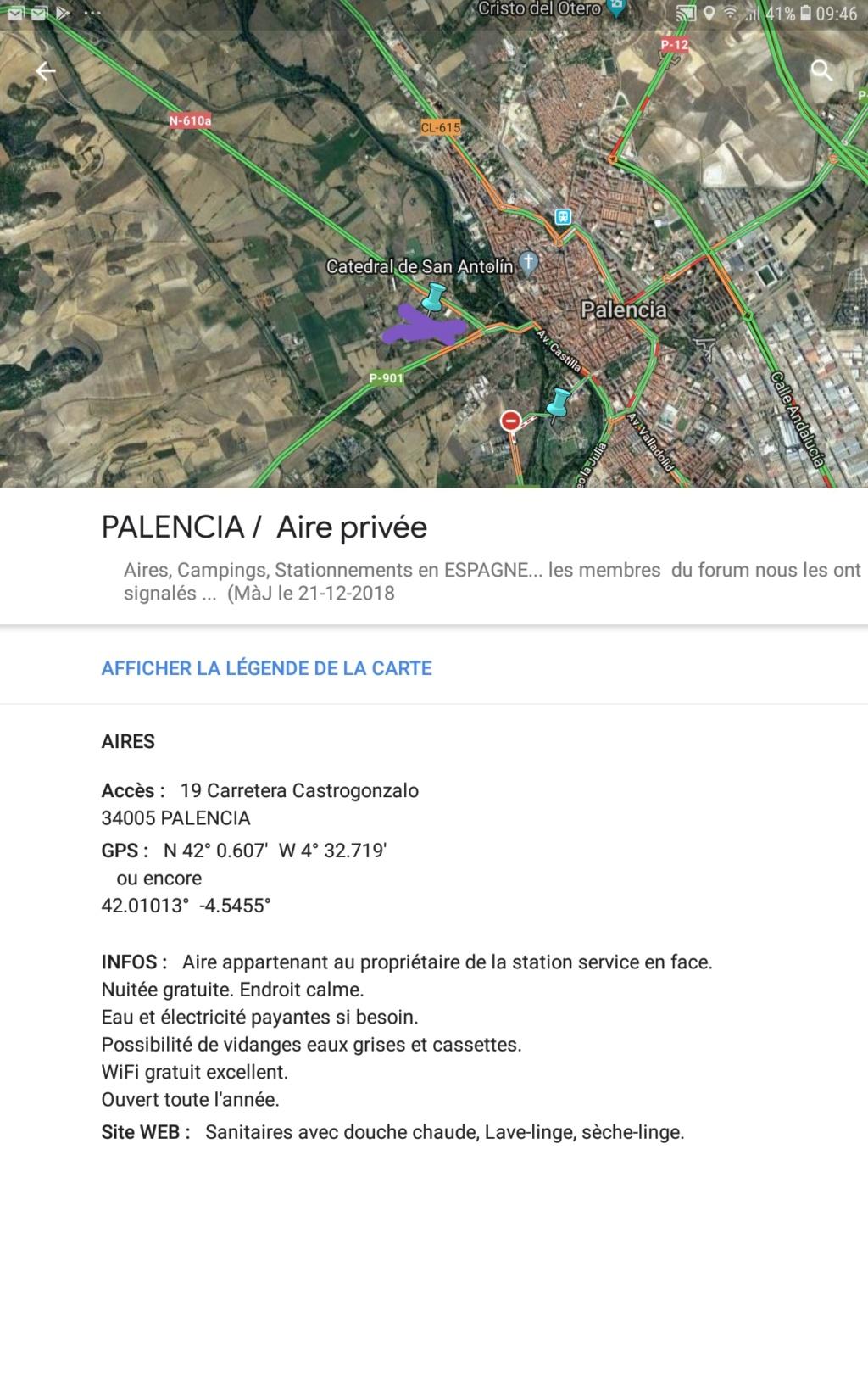 [ESPAGNE] Aire de camping car Suances à Palencia (entre Valladolid et Burgos) 20190911