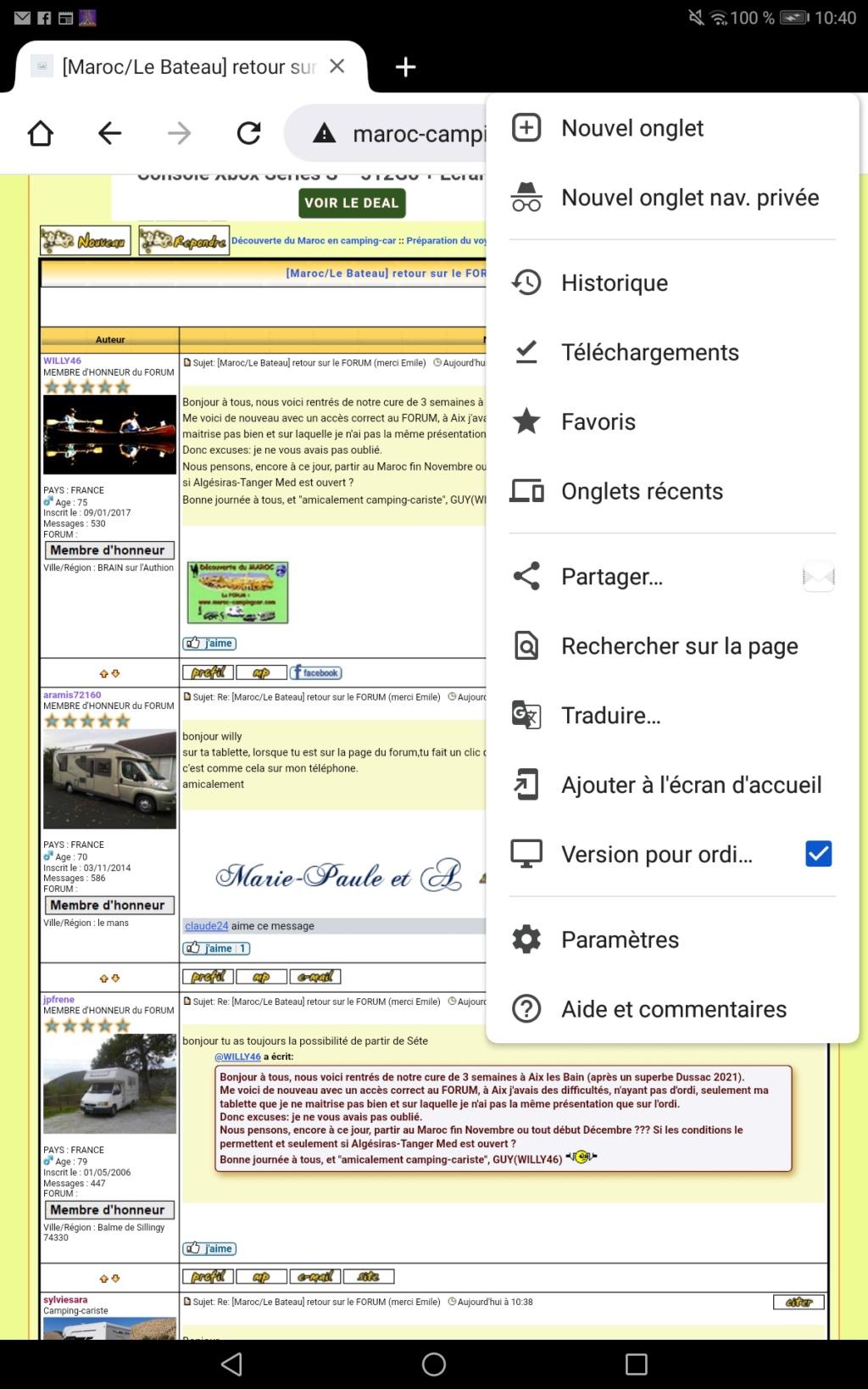 [Maroc/Le Bateau]  retour sur le FORUM (merci Emile) Screen36