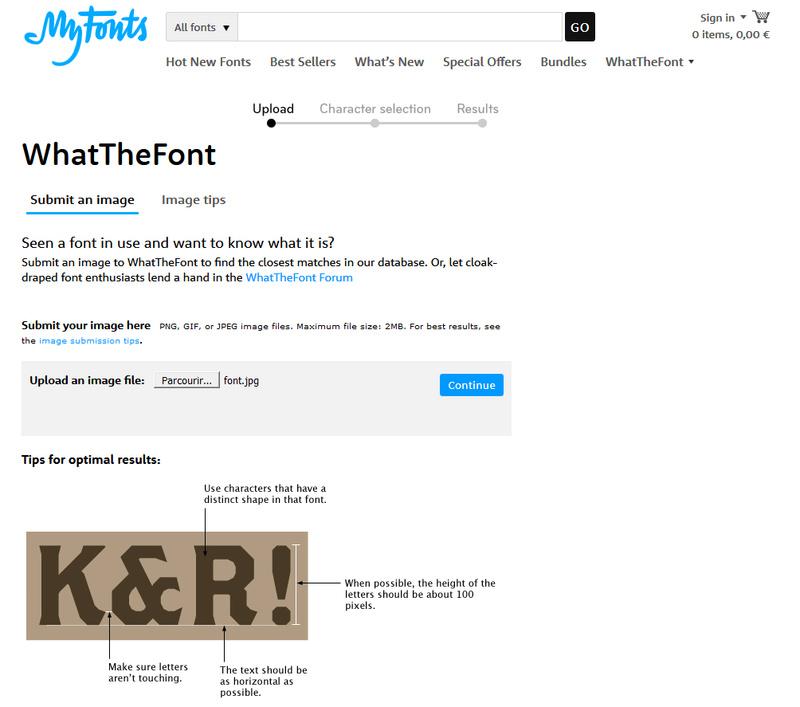 Font typographique Font210