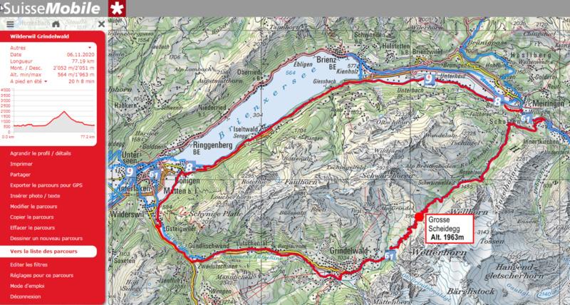 Lac et montagne d Oberland Suisse Velokraft Vk2 Carte_11