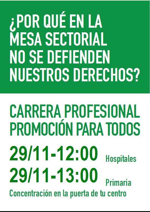 NUEVA CONCENTRACIÓN POR LA CARRERA PROFESIONAL PARA TODOS Cartel12
