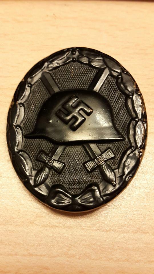 badge des blesses noir, ww2 Plaque12