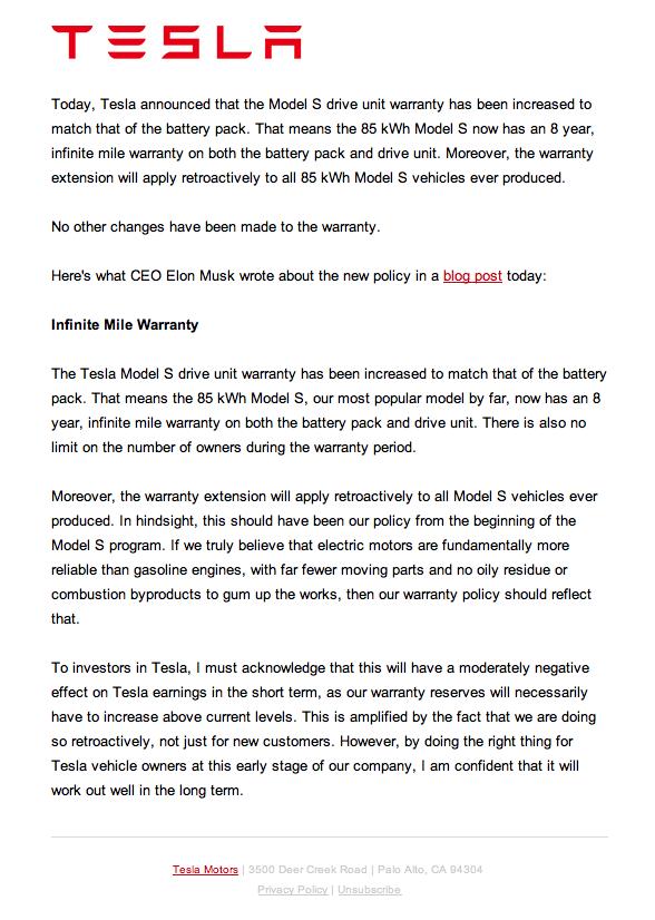 Garantía de un Tesla Garant10