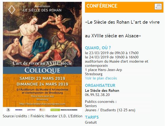 Le siècle des Rohan - L'art de vivre au XVIIIe siècle en Alsace Zducre10
