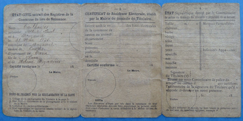 Quelques objets anciens de la police. Carte_14