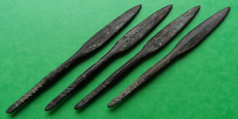 Pointes de lance en bronze. Pointe10