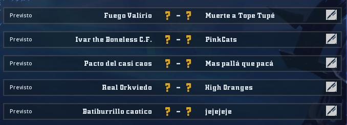 Liga Alianza Mixnotauro 1 - División Cuerno de Plata / Jornada 1 - hasta el domingo 10 de febrero Jorna104