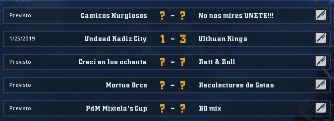 Liga Alianza Mixnotauro 1 - División Cuerno de Bronce / Jornada 1 - hasta el domingo 10 de febrero Jorna105