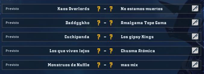 Liga Alianza Mixnotauro 1 - División Cuerno de Oro / Jornada 2 - hasta el domingo 24 de febrero Jorna106