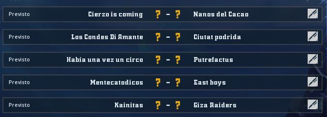 Campeonato Piel de Minotauro 8 - Grupo 2 / Jornada 1 - hasta el domingo 17 de febrero Jorna108
