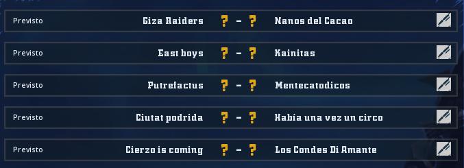 Campeonato Piel de Minotauro 8 - Grupo 2 / Jornada 3 - hasta el miércoles 6 marzo Jorna127