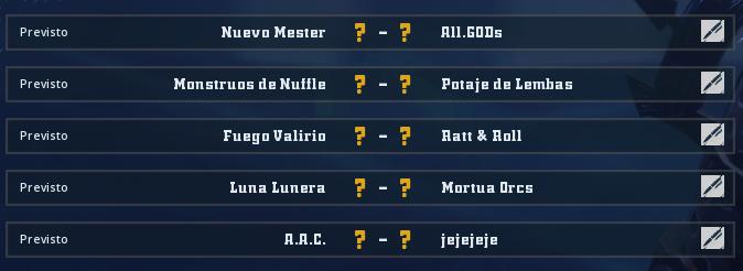 Liga Alianza Mixnotauro 3 - División Cuerno de Plata / Jornada 1 - hasta el domingo 29 de septiembre Jorna211