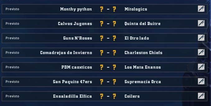 Liga Alianza Mixnotauro 4 - División Cuerno de Bronce / Jornada 1 - hasta el domingo 29 de diciembre Jorna298