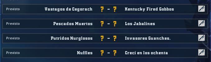 Campeonato Piel de Minotauro 10 - Grupo 3 / Jornada 1 - hasta el domingo 23 de febrero  Jorna327