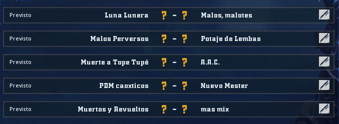 Liga Alianza Mixnotauro 5 - División Cuerno de Oro / Jornada 1 - hasta el domingo 29 de marzo Jorna344