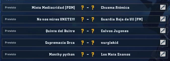 Liga Alianza Mixnotauro 5 - División Cuerno de Plata / Jornada 1 - hasta el domingo 29 de marzo Jorna347