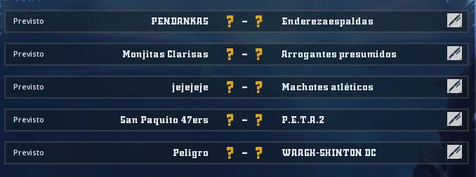 Liga Alianza Mixnotauro 5 / División Cuerno de Bronce / Jornada 1 - hasta el domingo 29 de marzo Jorna349
