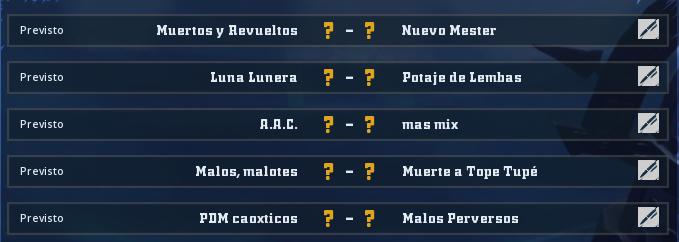 Liga Alianza Mixnotauro 5 - División Cuerno de Oro / Jornada 3 - hasta el domingo 26 de abril Jorna368