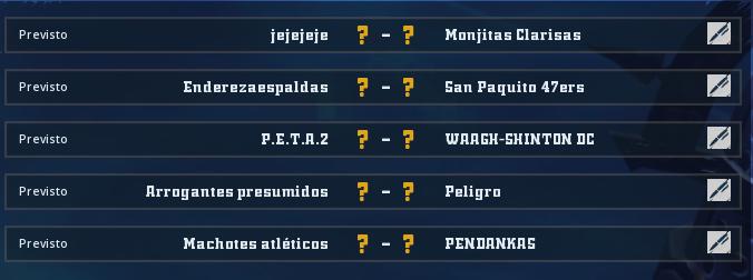 Liga Alianza Mixnotauro 5 - División Cuerno de Bronce / Jornada 4 - hasta el domingo 10 de mayo Jorna374