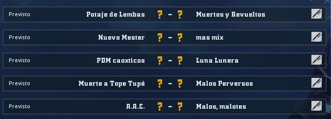 Liga Alianza Mixnotauro 5 - División Cuerno de Oro / Jornada 5 - hasta el dominigo 24 de mayo Jorna383