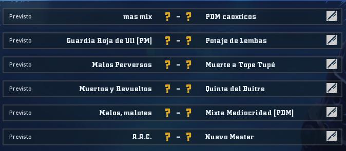 Liga Alianza Mixnotauro 6 - División Cuerno de Oro / Jornada 1 - hasta el domingo 21 de junio Jorna422