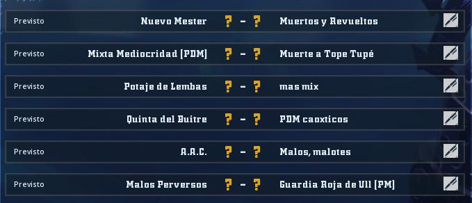 Liga Alianza Mixnotauro 6 - División Cuerno de Oro / Jornada 2 - hasta el domingo 5 de julio Jorna453