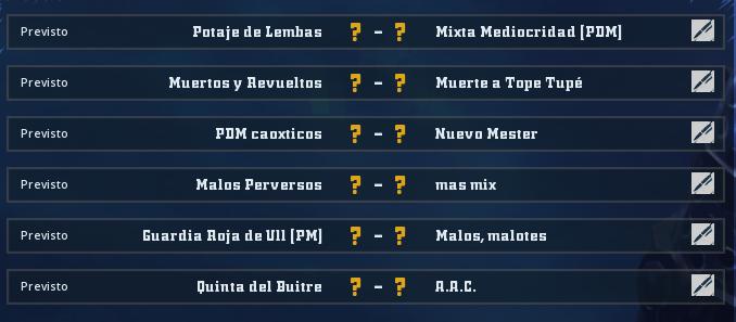 Liga Alianza Mixnotauro 6 - División Cuerno de Oro / Jornada 4 - hasta el domingo 27 de septiembre Jorna477