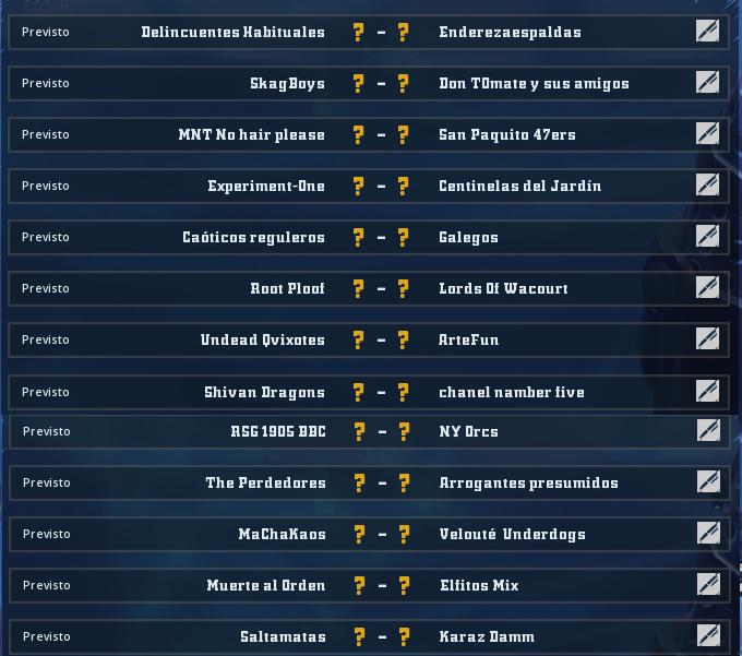 Liga Alianza Mixnotauro 6 - División Cuerno de Bronce / Jornada 4 - hasta el domingo 27 de septiembre Jorna478