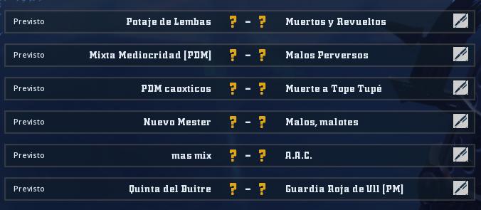 Liga Alianza Mixnotauro 6 - División Cuerno de Oro / Jornada 5 - hasta el domingo 11 de octubre Jorna480