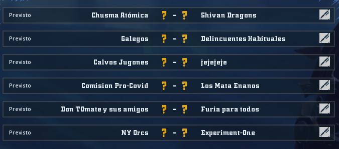 Liga Alianza Mixnotauro 7 - División Cuerno de Plata / Jornada 6 - hasta el 14 de febrero Jorna501