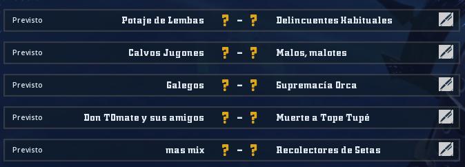 Liga Alianza Mixnotauro 8 - División Cuerno de Oro / Jornada 1 - hasta el domingo 11 de abril Jorna503