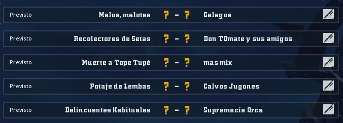 Liga Alianza Mixnotauro 8 - División Cuerno de Oro / Jornada 3 - hasta el domingo 9 de mayo Jorna509