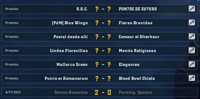 Liga Alianza Mixnotauro 8 - División Cuerno de Bronce / Jornada 3 - hasta el domingo 9 de mayo Jorna510
